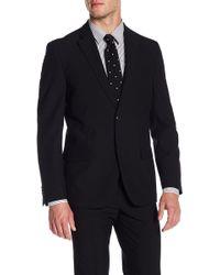 Ben Sherman - Solid Black Two Button Notch Lapel Jacket - Lyst