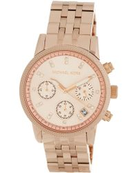 MICHAEL Michael Kors - Women's Ritz Chronograph Bracelet Watch, 37mm - Lyst