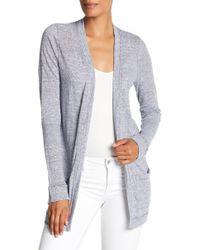 Three Dots - Linen Jersey Easy Cardigan - Lyst