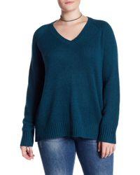 7359153918e NAKEDCASHMERE - Whitney V-neck Cashmere Sweater (plus Size) - Lyst