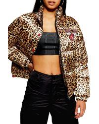 TOPSHOP - X Unk Miami Heat Puffer Jacket - Lyst