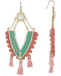 Lucky Brand - Chandelier Tassel Earrings - Lyst