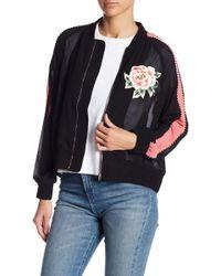 Line & Dot - Celeste Rose Embroidered Track Jacket - Lyst