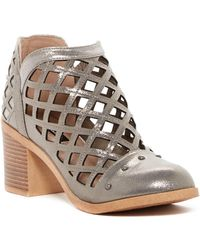 Michael Antonio - Stacey Metallic Caged Ankle Boot - Lyst
