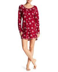 Love+Grace - Snowflake Long Sleeve Sleep Shirt - Lyst