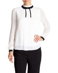 Ted Baker - Pleated High Neck Top - Lyst
