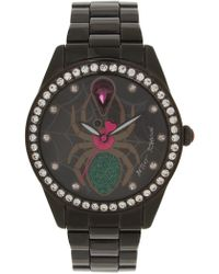 Betsey Johnson - Women's Analog Quartz Czech Crystal Accented Bracelet Watch, 42mm - Lyst