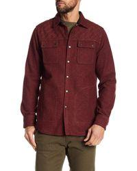 Jeremiah - 'patton' Embroidered Neppy Shirt Jacket - Lyst