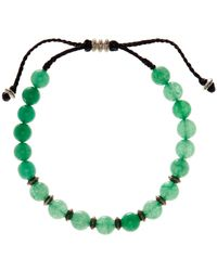 Link Up - 8mm Green Adventurin Beaded Cord Bracelet - Lyst