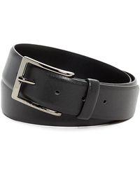 BOSS - Saffiano Leather Belt - Lyst