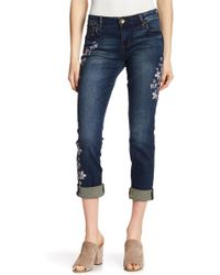 Kut From The Kloth - Catherine Embroidered Boyfriend Jeans - Lyst