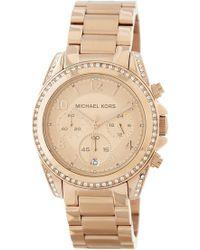 7a56f8e22c00 Lyst - Michael Kors Michael Mens Round Opaline Black Watch 51mm in ...