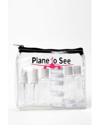 MIAMICA - Plane To See Tsa Compliant Security Case - 15-piece Set - Clear - Lyst