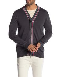 Perry Ellis - Double Placket V-neck Cardigan - Lyst