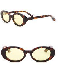 357cf8cc925 Lyst - Elizabeth and James Franklin Aviator Sunglasses in Metallic