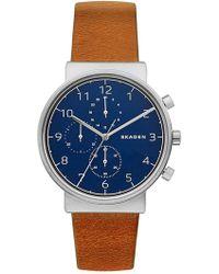 Skagen - Men's Ancher Quartz Watch, 40mm - Lyst
