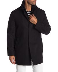Cardinal Of Canada - Double Mock Neck Wool Blend Coat - Lyst