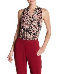 BCBGeneration - Floral Surplice Jersey Bodysuit - Lyst