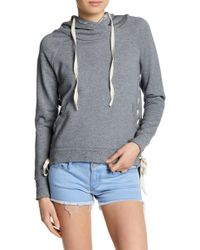 Black Orchid - Lace Down Hoodie - Lyst
