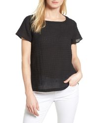 Eileen Fisher - Bateau Neck Top - Lyst