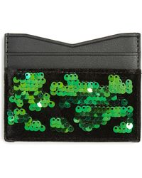 Kendall + Kylie - Emma Sequin & Faux Leather Card Case - Lyst