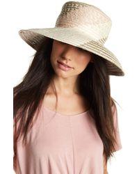 BCBGMAXAZRIA - Oversized Straw Bucket Hat - Lyst