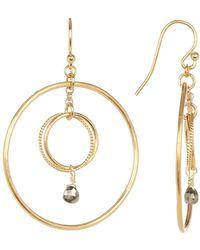 Chan Luu - Double Hoop Crystal Earrings - Lyst