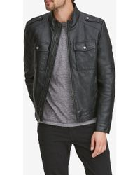 Andrew Marc - Bruckner Faux Leather Jacket - Lyst