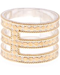 Anna Beck - 18k Gold Plated Sterling Silver Gili Wire Triple Bar Ring - Lyst