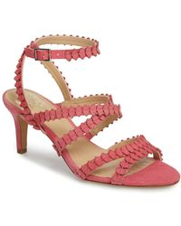 31d24a5fa5e7 Vince Camuto Tressa Perforated Lace-up Sandal in Red - Lyst
