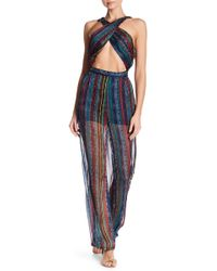 Wow Couture - Sheer Wrap Bodice Jumpsuit - Lyst