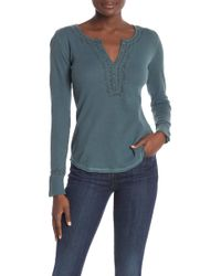 Lucky Brand - Embroidered Long Sleeve Henley - Lyst