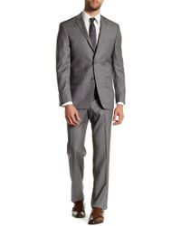 Spurr By Simon Spurr | Gray Sharkskin Two Button Notch Lapel Wool Suit | Lyst