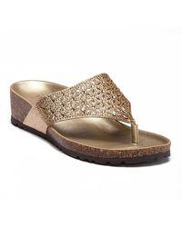 Italian Shoemakers - Eloise Wedge Sandal - Lyst