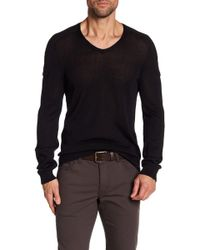 John Varvatos - V-neck Sweater - Lyst