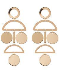 Panacea - Art Deco Geo Earrings - Lyst
