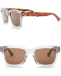 95616bcd22a6f Lyst - Gucci Men s Round Acetate Frame Sunglasses in Brown for Men