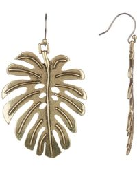 Lucky Brand - Leaf Drop Earrings - Lyst