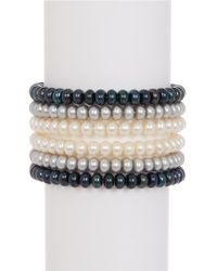 Tara Pearls - Dyed 6-7mm Freshwater Pearl Stretch Bracelet Set - Lyst