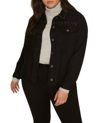 Sanctuary - Studded Jacket (plus Size) - Lyst