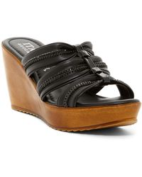 Italian Shoemakers | Imitation Pearl & Crystal Embellished Platform Wedge Sandal | Lyst