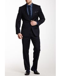 CALVIN KLEIN 205W39NYC - Navy Solid Two Button Notch Lapel Suit - Lyst