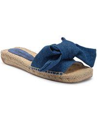 Jeffrey Campbell - Estela Bow Tie Slide Sandal - Lyst