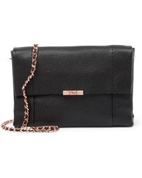 Ted Baker - Parson Soft Leather Crossbody Bag - Lyst