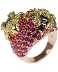 CZ by Kenneth Jay Lane - Cz Accented Bee Ring - Lyst