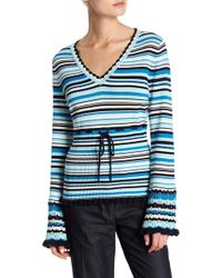 Nanette Nanette Lepore - Striped Pullover Sweater - Lyst