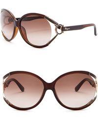 Ferragamo - 61mm Butterfly Sunglasses - Lyst