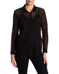 The Kooples - Lace Flower Shirt - Lyst