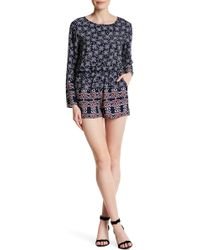 Fraiche By J - Long Sleeve Printed Romper - Lyst