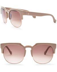 Balenciaga - Women's Injected Half Rim 55mm Sunglasses - Lyst